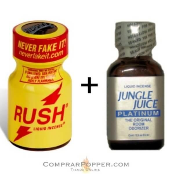 pack popper rush y jungle juice más barato de venta popper en comprarpoper.com
