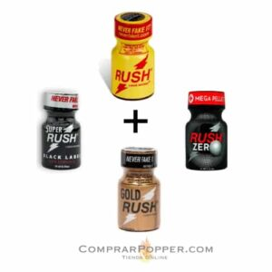 pack rush completo poppers