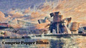 comprar popper bilbao imagen guggenheim en estilo impresionista.