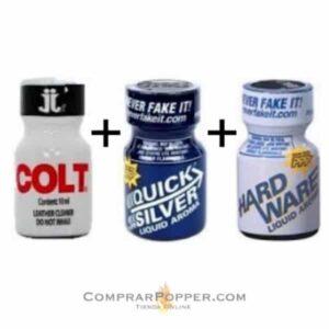 Pack Colt imagen de tres botes de popper Colt-Quicksilver-Hardware