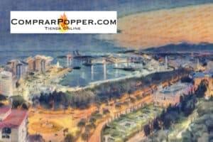 comprar popper en málaga imagen principal de la ciudad en estilo impresionista