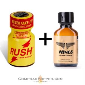 pack popper rush y wings en nuestra tienda de poppers online