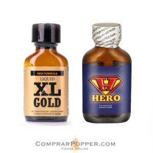 pack popper hero y xl gold en comprar popper