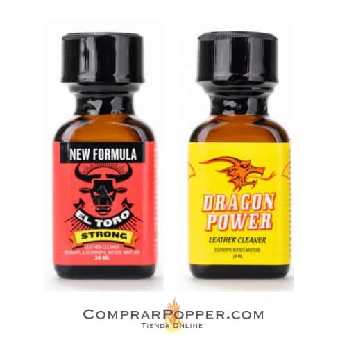 popper toro y dragon con el logo de comprar popper