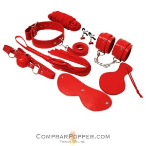 juguetes sexuales en color rojo de bdsm