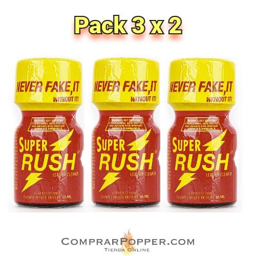 pack 3x2 super rush pequeño en nuestra tienda online de poppers españa